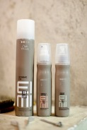 Per ricreare gli hairlook della sfilata Marras: Wella Dynamic Fix, Ocean Spritz e Perfect Setting