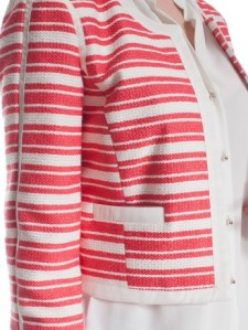 Giacca Motivi a righe bianche e rosa